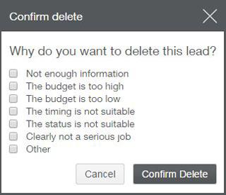 Delete reason